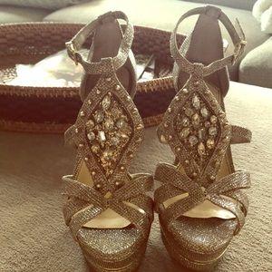 Gianni Bini Gold and Silver Heels